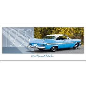 Printed Classic Cars Panoramic Calendar