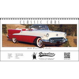 Classic Cars Panoramic Calendar for your School