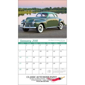 Promotional Classic Cars Wall Calendar