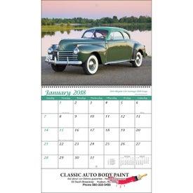 Promotional Classic Cars Wall Calendar