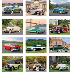 Classic Cars Wall Calendar for Your Company