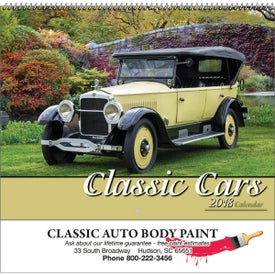 Classic Cars Wall Calendar with Your Logo