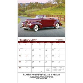 Imprinted Classic Cars Wall Calendar