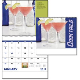 Cocktails - Spiral Calendar for Advertising