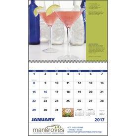 Monogrammed Cocktails - Spiral Calendar