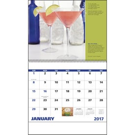 Cocktails - Spiral Calendar Printed with Your Logo