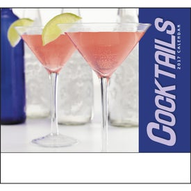 Promotional Cocktails Stapled Calendar