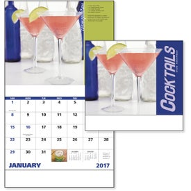 Cocktails Stapled Calendar for Your Organization