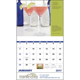 Promotional Cocktails Stapled Calendar
