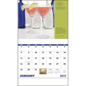 Printed Cocktails Stapled Calendar