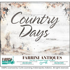 Country Days Calendar (2021, Spiral)