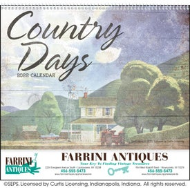 Country Days Calendar (Spiral)