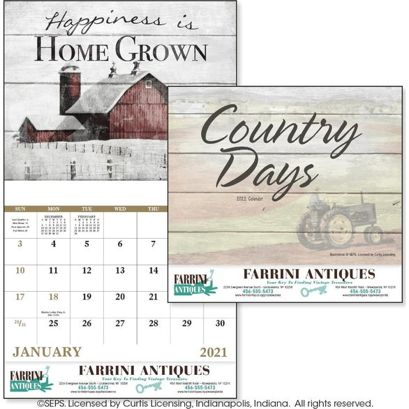 See Item Country Days Calendar