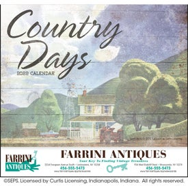 Country Days Calendar (2021, Stapled)