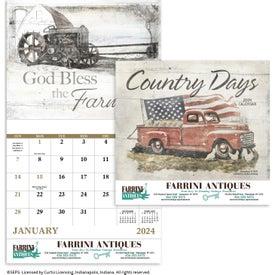 Country Days Calendar (Stapled)