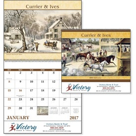 Company Currier and Ives: Spiral Calendar