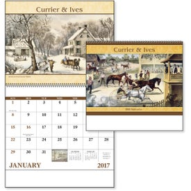 Promotional Currier and Ives: Spiral Calendar