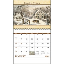 Personalized Currier and Ives: Spiral Calendar
