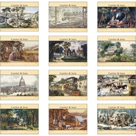 Currier and Ives: Spiral Calendar for your School