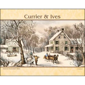 Imprinted Currier and Ives: Spiral Calendar