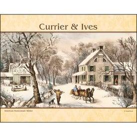Imprinted Currier and Ives: Spiral Calendar