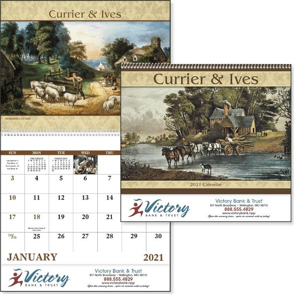 See Item Currier and Ives Calendar