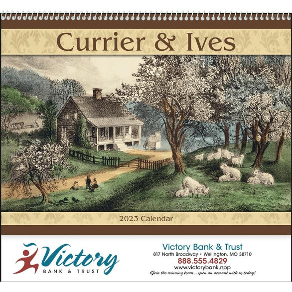 Currier and Ives: Spiral Calendar