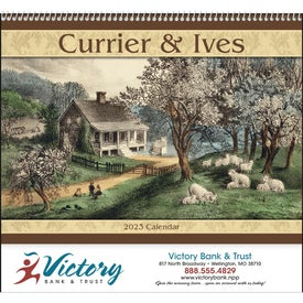 Currier and Ives: Spiral Calendar Branded with Your Logo