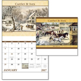 Advertising Currier and Ives Stapled Calendar