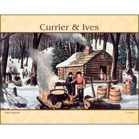 Imprinted Currier and Ives Stapled Calendar