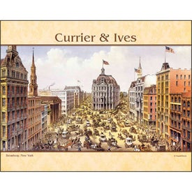 Currier and Ives Stapled Calendar for Your Company
