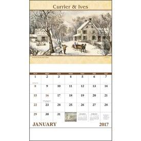 Custom Currier and Ives Stapled Calendar