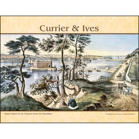 Company Currier and Ives Stapled Calendar