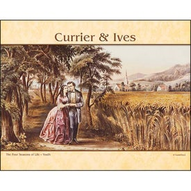 Promotional Currier and Ives Stapled Calendar