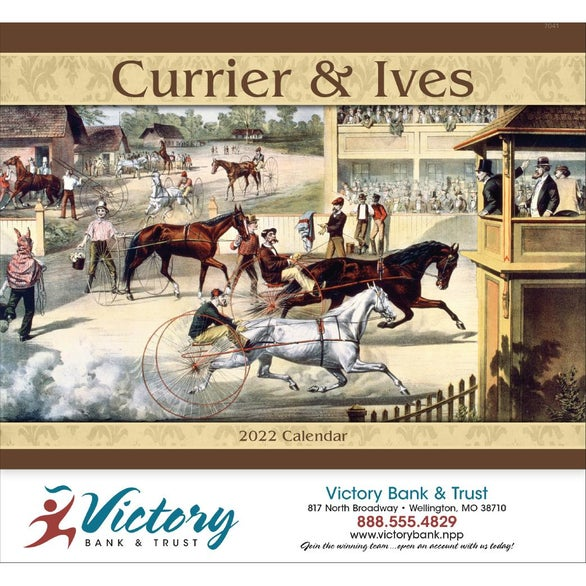 Currier and Ives Stapled Calendar