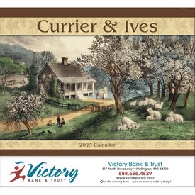 Customized Currier and Ives Stapled Calendar