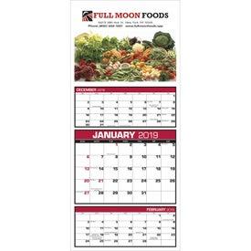 Custom 3-Month View Calendar (2017)