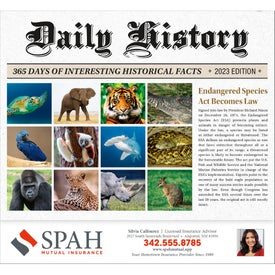 Daily History Calendar (Stapled)