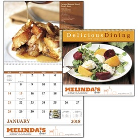 Delicious Dining Spiral Calendar for Customization