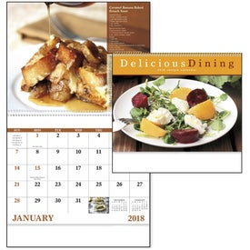 Delicious Dining Spiral Calendar for Advertising
