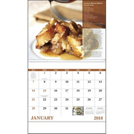 Personalized Delicious Dining Spiral Calendar