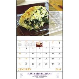 Logo Delicious Dining Stapled Calendar