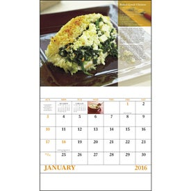 Delicious Dining Stapled Calendar with Your Slogan