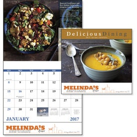 Branded Delicious Dining Stapled Calendar