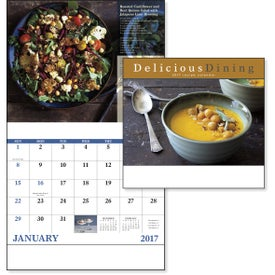 Delicious Dining Stapled Calendar Giveaways