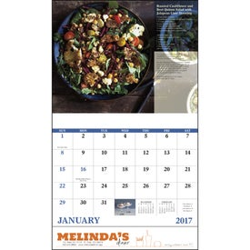 Delicious Dining Stapled Calendar Imprinted with Your Logo