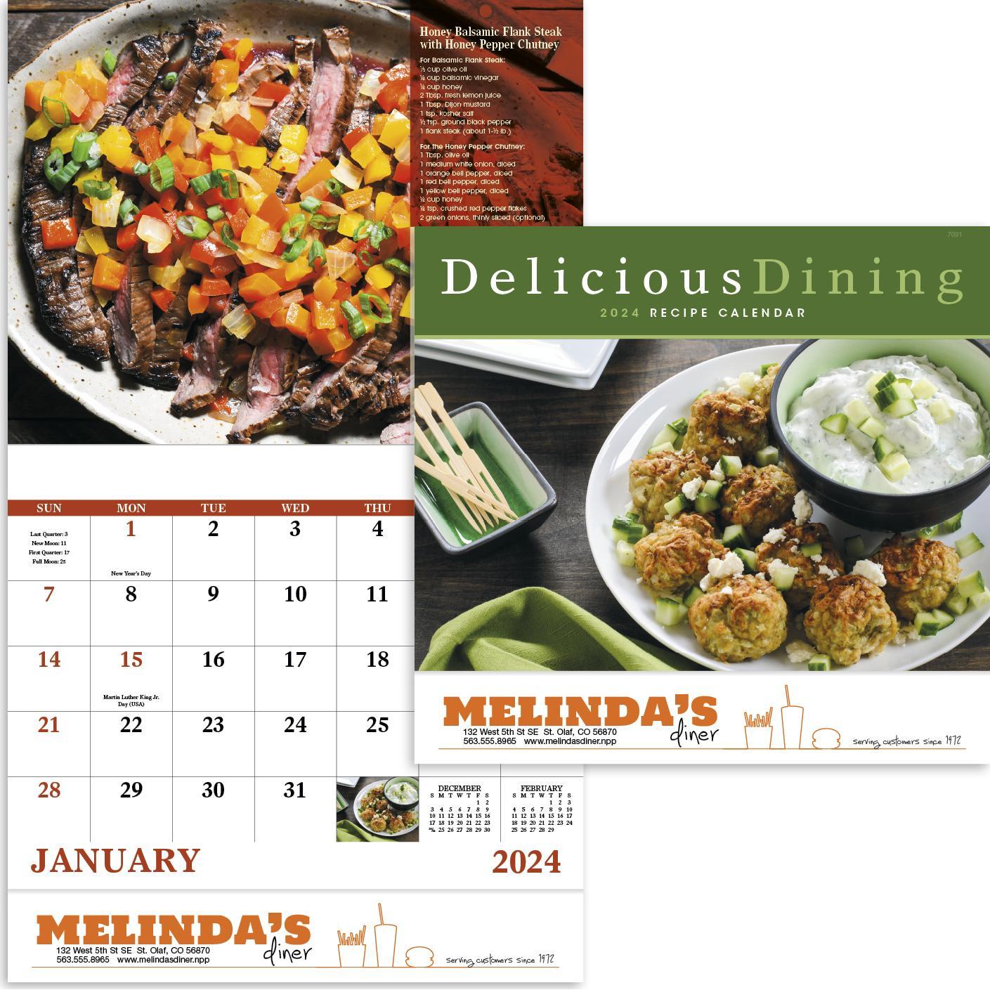 Delicious Dining Stapled Calendar (2020)