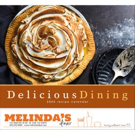 Promotional Delicious Dining Stapled Calendar