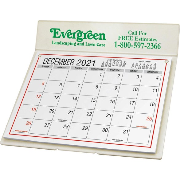 Promotional Desk Calendars With Custom Logo For 1 48 Ea