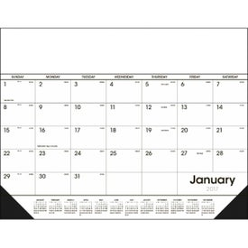Promotional Desk Pad Black and White